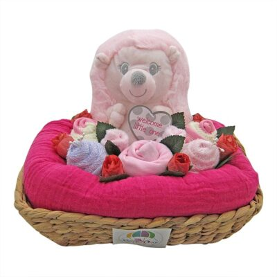 hedgehog floral baby hamper