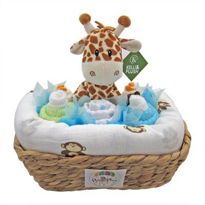 giraffe baby boy cupcake hamper