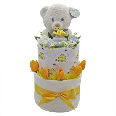 Unisex Baby Double Layer Nappy Cake
