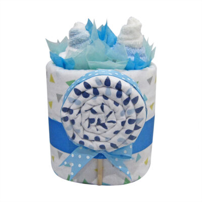 cupcakes lollipop baby boy nappy cake